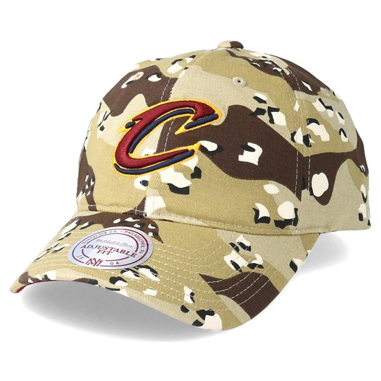 Keps Cleveland Cavaliers Dad Hat Desert Camo Adjustable - Mitchell & Ness - Camo Reglerbar