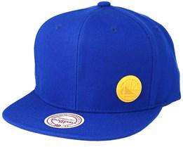 Golden State Warriors Little Logo Royal Snapback - Mitchell & Ness