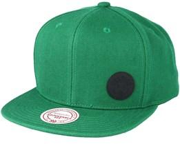 Boston Celtics Little Logo Green Snapback - Mitchell & Ness