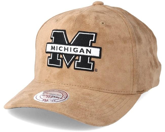 06916d681bb1e Michigan Wolverines Classic Khaki Adjustable - Mitchell   Ness caps -  Hatstoreworld.com