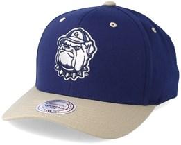 Georgetown University Team Logo 2-Tone 110 Navy Adjustable - Mitchell & Ness