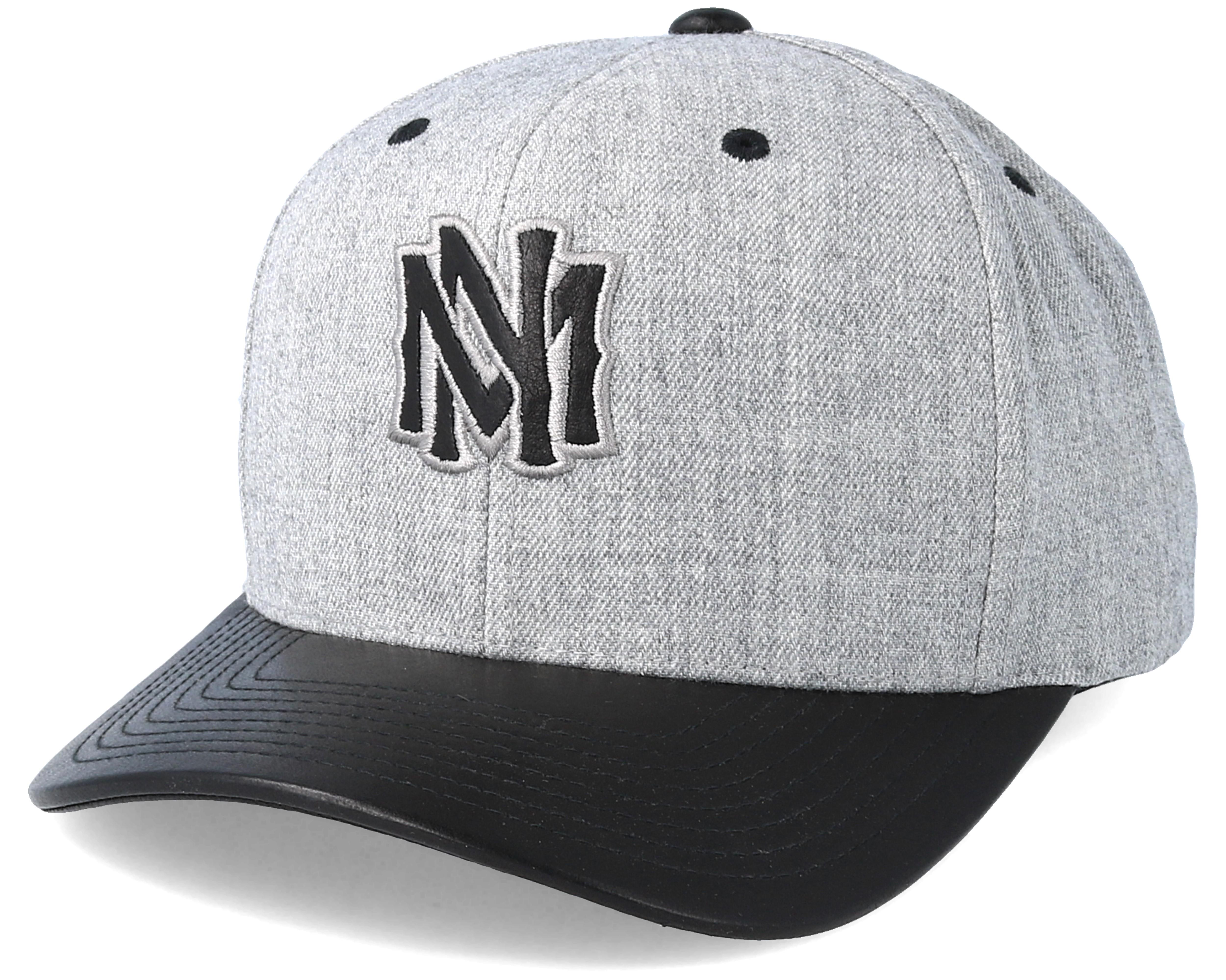 1ef3dc32a49a75 Vintage Top Shelf Curve Grey Adjustable - Mitchell & Ness caps ...