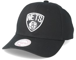 Brooklyn Nets Team Logo Low Profile Black Snapback - Mitchell   Ness 45171c3e5b6
