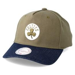 92141d2d7522fb Mitchell & Ness Boston Celtics Denim Visor Olive Adjustable - Mitchell &  Ness $24.99