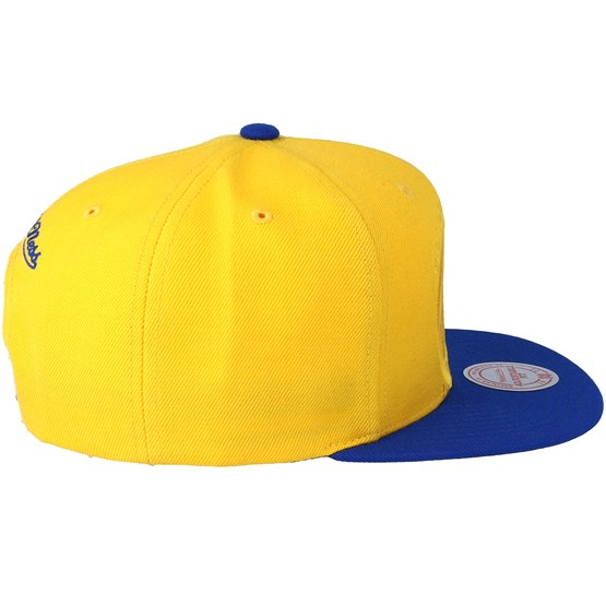 huge selection of 663c6 dc4f9 Golden State Warriors Cropped Satin Blue Yellow Snapback - Mitchell   Ness  caps - Hatstoreaustralia.com