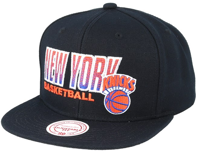 a3e55c6b817 New York Knicks Score Keeper Black Snapback - Mitchell   Ness caps -  Hatstoreworld.com