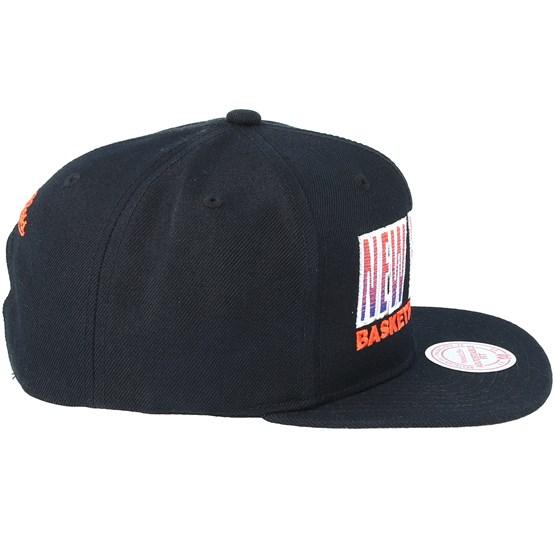 7d84001a8cc New York Knicks Score Keeper Black Snapback - Mitchell   Ness caps -  Hatstoreworld.com