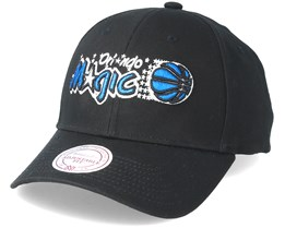 Orlando Magic Team Logo Low Profile Black Adjustable - Mitchell & Ness