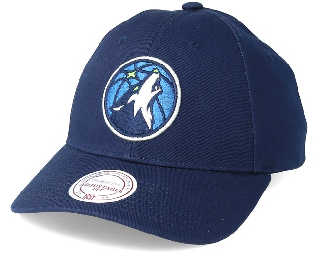 ff2084eb71079f Minnesota Timberwolves Team Logo 2-Tone 110 Black Adjustable - Mitchell   Ness  caps - Hatstorecanada.com