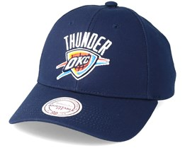 Oklahoma City Thunder Team Logo Low Profile Navy Adjustable - Mitchell & Ness