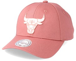Chicago Bulls Team Logo Low Profile Cork Adjustable - Mitchell & Ness