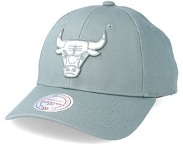 Chicago Bulls Team Logo Low Profile Iron Adjustable - Mitchell & Ness