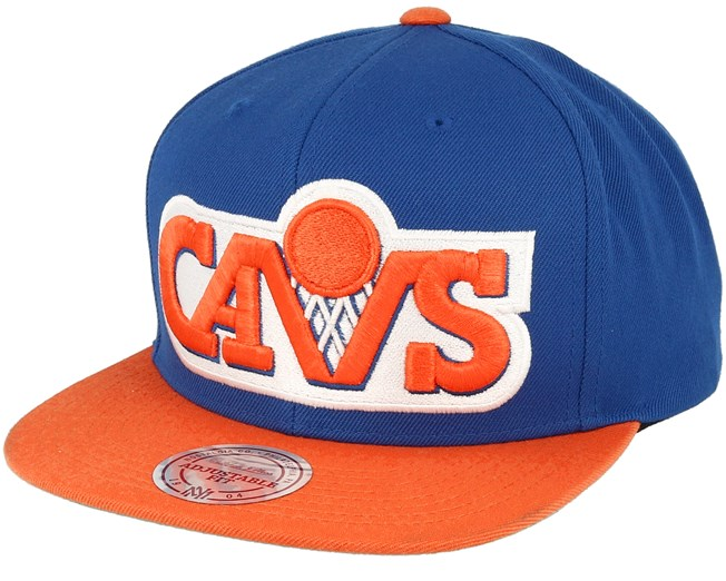 Cleveland Cavaliers XL Logo 2 Tone Blue Orange Snapback - Mitchell   Ness -  Start Cappellino - Hatstore 49965bc31e71