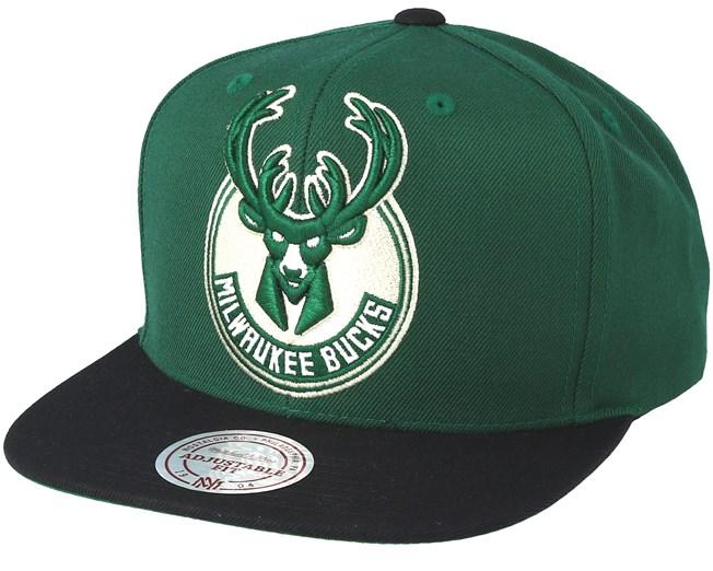 Erode Green Mitchell /& Ness Milwaukee Bucks Low Pro Snapback Cap