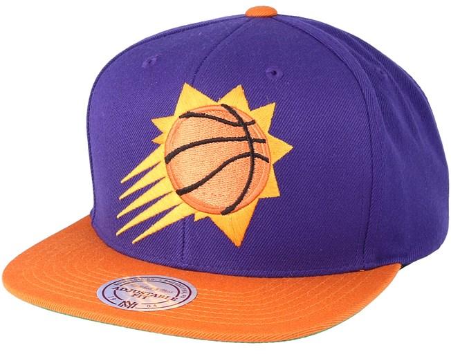 the latest 9ddfe 3eb2f Phoenix Suns XL Logo 2 Tone Orange/Purple Snapback ...
