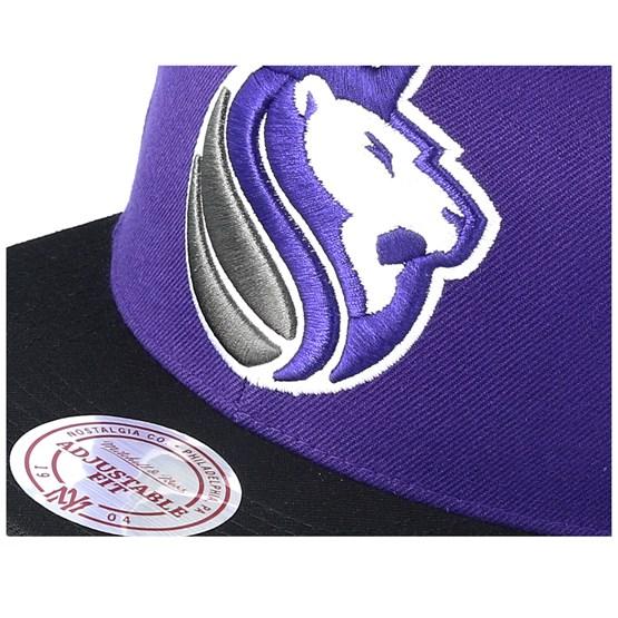 wholesale dealer 0eb40 09bbf Sacramento Kings XL Logo 2 Tone Black Purple Snapback - Mitchell   Ness  caps - Hatstoreworld.com