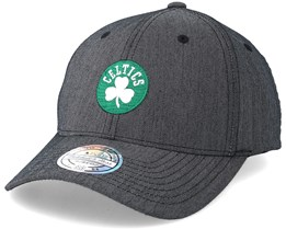 Boston Celtics Poly Heringbone Grey 110 Adjustable - Mitchell & Ness