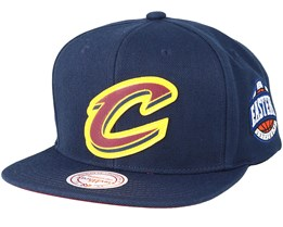 Cleveland Cavaliers Silicon Grass Hwc Navy Snapback - Mitchell & Ness