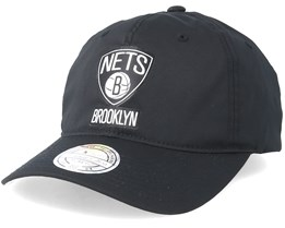 d2b45e05b67dd Brooklyn Nets Light   Dry Black Adjustable - Mitchell   Ness