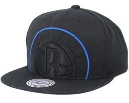 Brooklyn Nets Cropped Xl Black Snapback - Mitchell & Ness