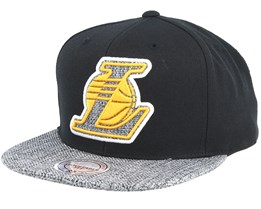 LA Lakers Woven Tc Black Snapback - Mitchell & Ness