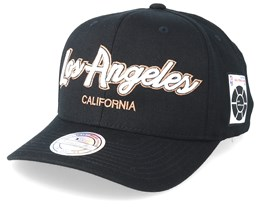 Los Angeles Script & Patches 110 Black Adjustable - Mitchell & Ness