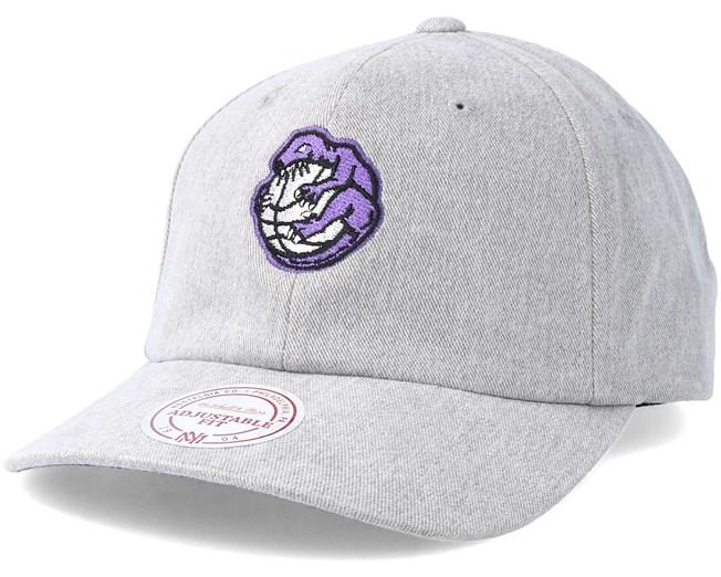 001e469ba02 Toronto Raptors Haze Grey Adjustable - Mitchell   Ness caps ...