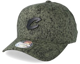 Cleveland Cavaliers Olive/Black Corrosive Adjustable - Mitchell & Ness