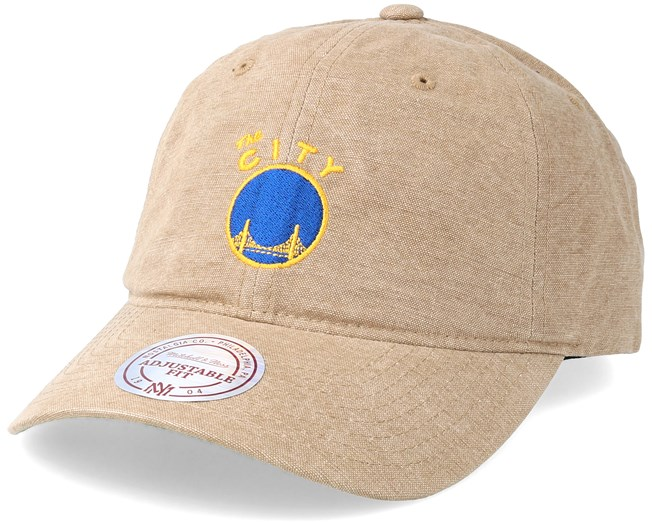 new product 676ad 65339 Golden State Warriors Workmens Strapback Tan Adjustable - Mitchell   Ness  caps - Hatstore.ae