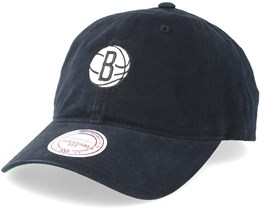 Brooklyn Nets Workmens Strapback Black Adjustable - Mitchell & Ness