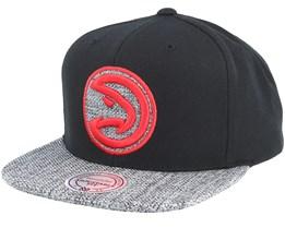 Atlanta Hawks Woven Tc Black Snapback - Mitchell & Ness