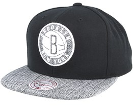 Brooklyn Nets Woven Tc Black Snapback - Mitchell & Ness