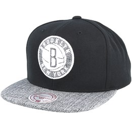 9aa2ee6d0b988f Mitchell & Ness Brooklyn Nets Woven Tc Black Snapback - Mitchell & Ness  £29.99
