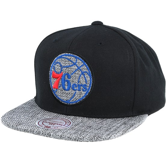 Philadelphia 76ers Woven Tc Black Snapback - Mitchell   Ness cap -  Hatstore.co.in a46a536a0133