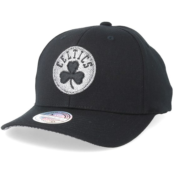 1a62ad4db1caf4 Boston Celtics Mono Melange Logo 110 Black Adjustable - Mitchell & Ness cap  - Hatstore.co.in