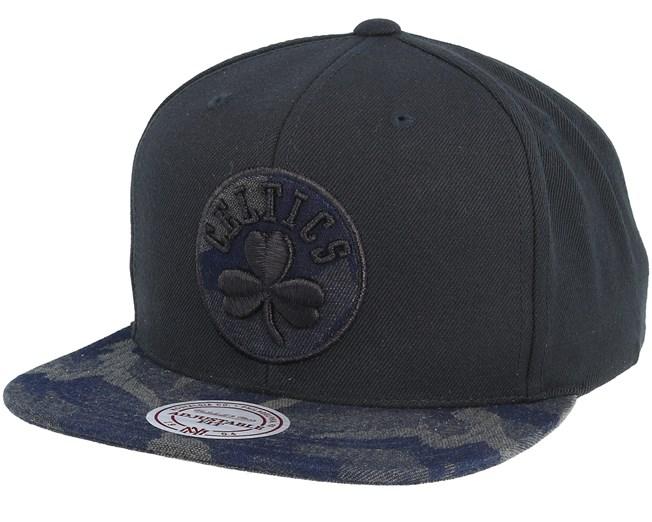 hot sale online 271e0 9c59b Boston Celtics Denim Black Camo Snapback - Mitchell   Ness caps -  Hatstoreaustralia.com
