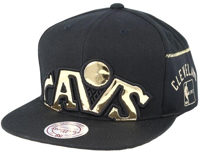 1a15c018306 Cleveland Cavaliers Patent Cropped Black Snapback - Mitchell   Ness caps -  Hatstoreaustralia.com