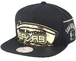 San Antonio Spurs Patent Cropped Black Snapback - Mitchell & Ness