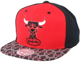 Chicago Bulls Team Sublimated Red/Black Snapback - Mitchell & Ness