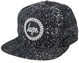 Speckle Crest Black/White Snapback - Hype