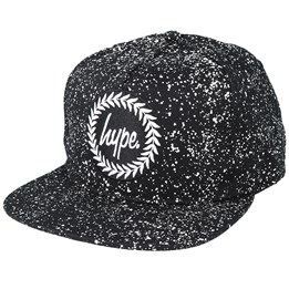 66e4b1f8f45 Only 1 left! Hype Speckle Crest Black White Snapback ...