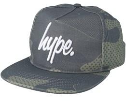 Halftone Khaki Camo Snapback - Hype