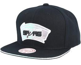 San Antonio Spurs Dark Hologram II Hwc Black Snapback - Mitchell & Ness