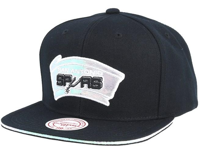 low priced 970c3 50eff San Antonio Spurs Dark Hologram II Hwc Black Snapback - Mitchell   Ness caps  - Hatstoreworld.com