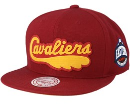 Cleveland Cavaliers Silicon Grass Hwc Cardinal Snapback - Mitchell & Ness