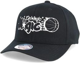 Orlando Magic Black & White 110 Adjustable - Mitchell & Ness