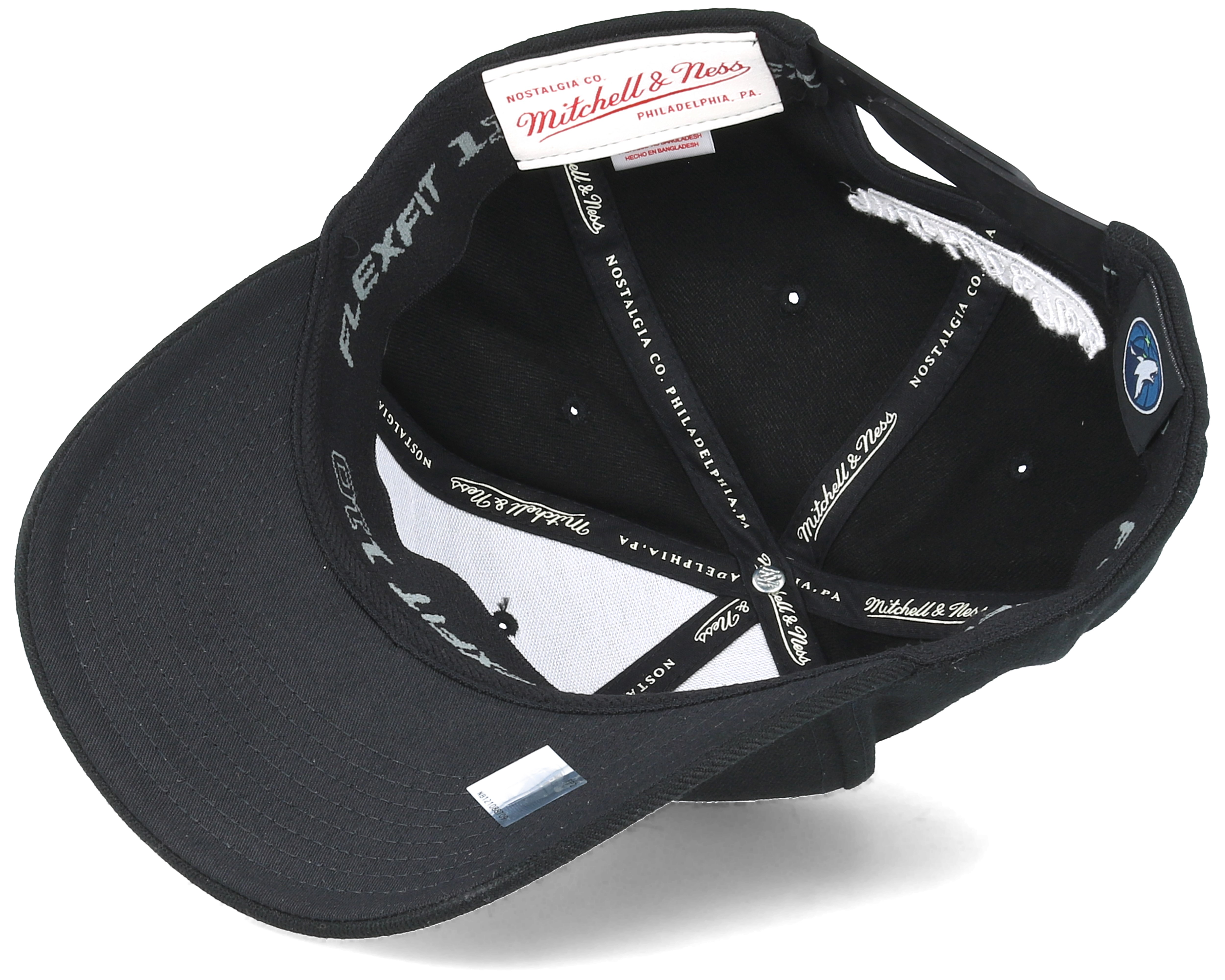 5327fe26b1e952 Minnesota Timberwolves Black & White 110 Adjustable - Mitchell & Ness caps  - Hatstorecanada.com