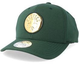 Boston Celtics Metallic Logo Green 110 Adjustable - Mitchell & Ness
