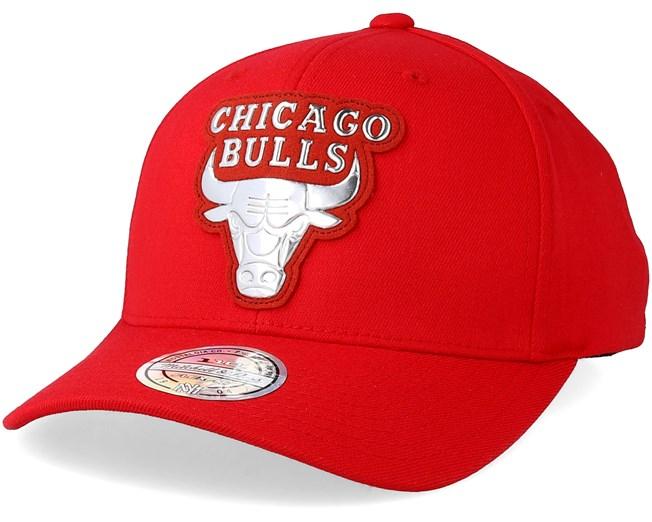 f864784bac2 Chicago Bulls Metallic Logo Red 110 Adjustable - Mitchell   Ness caps -  Hatstoreaustralia.com