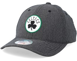 Boston Celtics Stretch Melange Black/Grey 110 Adjustable - Mitchell & Ness